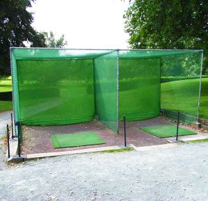 Golf Practice Cage Nets Dual Bay