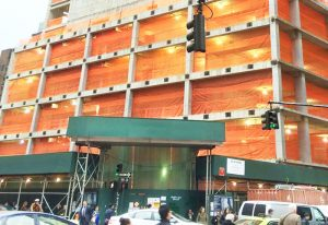 "Orange Knitted Safety Debris Netting HDPE 1/16"" Mesh"