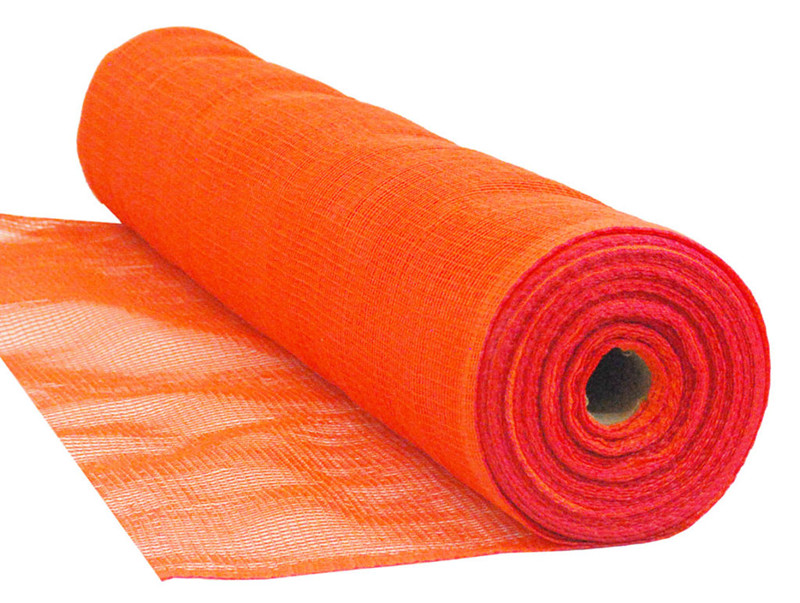 "Orange Knitted Safety Debris Netting HDPE 1/16"" Mesh"