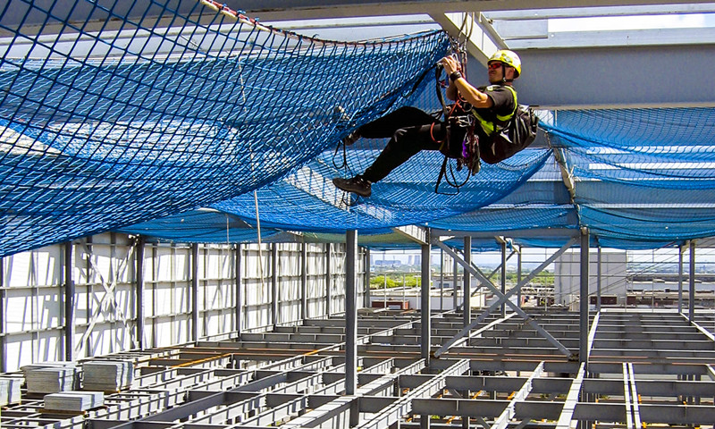 Knotless Fall Protection Netting