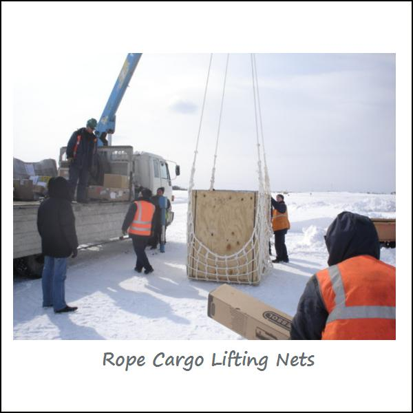 Knotless HTPP Rope Cargo Lifting Nets