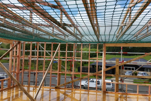 70mm Square Mesh And 5mm Cord HTPPFallProtectionSafetyNetting