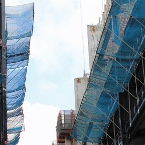 Edge protection catch fan safety nets