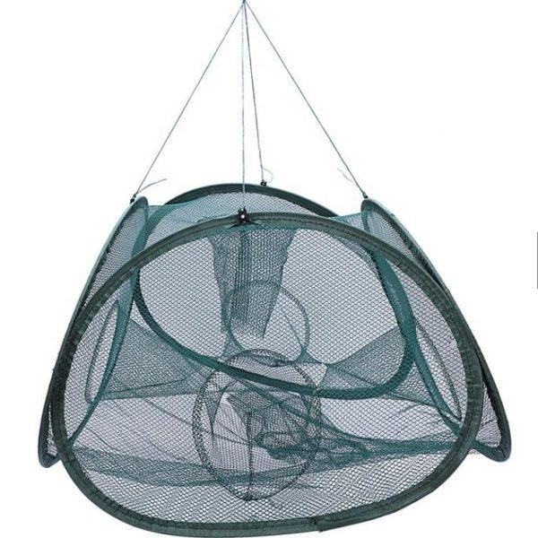 5 Holes Automatic Foldable Crab Trap Net