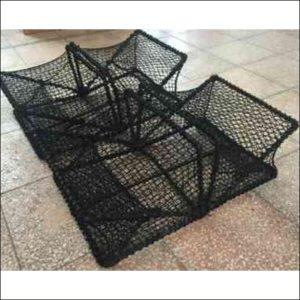 Square fishing folding crab traps