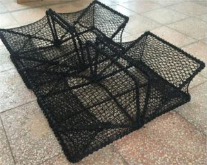 Square fishing folding crab traps