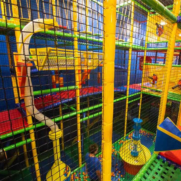 Indoor playground soft play children safety netting