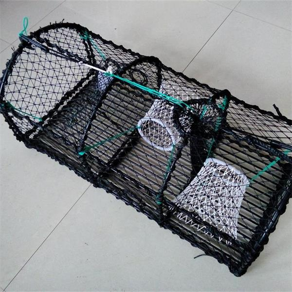 Commercial steel wire mesh crab trap